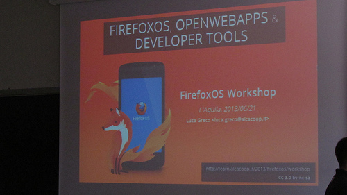 Repos and photos of the Firefox OS Workshop in L'aquila