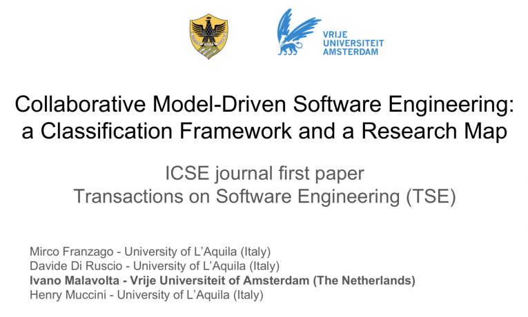 Collaborative Model-Driven Software Engineering: a Classification Framework and a Research Map [ICSE 2018 – journal first]