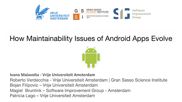 How Maintainability Issues of Android Apps Evolve [ICSME 2018]