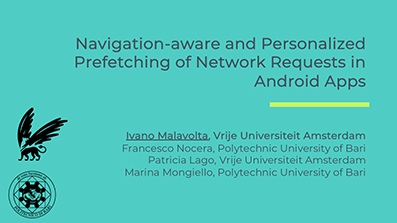 NAPPA: Navigation-aware and Personalized Prefetching of Network Requests in Android Apps [ICSE 2019 NIER track]